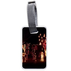 Holiday Lights Christmas Yard Decorations Luggage Tags (two Sides)