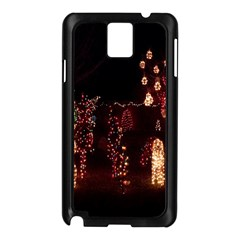 Holiday Lights Christmas Yard Decorations Samsung Galaxy Note 3 N9005 Case (black)