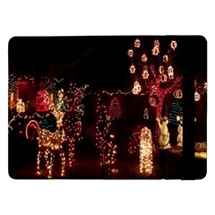 Holiday Lights Christmas Yard Decorations Samsung Galaxy Tab Pro 12 2  Flip Case by Sapixe