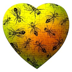 Insect Pattern Jigsaw Puzzle (heart)
