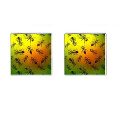 Insect Pattern Cufflinks (square) by Sapixe