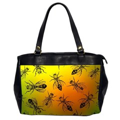 Insect Pattern Office Handbags (2 Sides)
