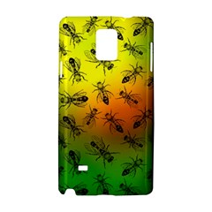 Insect Pattern Samsung Galaxy Note 4 Hardshell Case by Sapixe