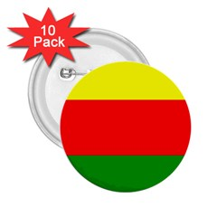Kurdistan Kurd Kurds Kurdish Flag 2 25  Buttons (10 Pack)