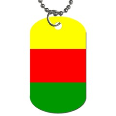 Kurdistan Kurd Kurds Kurdish Flag Dog Tag (two Sides) by Sapixe
