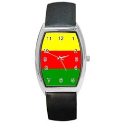 Kurdistan Kurd Kurds Kurdish Flag Barrel Style Metal Watch by Sapixe