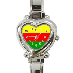 Kurdistan Kurd Kurds Kurdish Flag Heart Italian Charm Watch by Sapixe