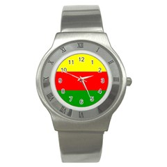 Kurdistan Kurd Kurds Kurdish Flag Stainless Steel Watch by Sapixe