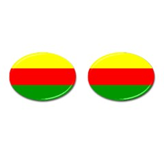 Kurdistan Kurd Kurds Kurdish Flag Cufflinks (oval) by Sapixe
