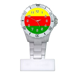 Kurdistan Kurd Kurds Kurdish Flag Plastic Nurses Watch by Sapixe
