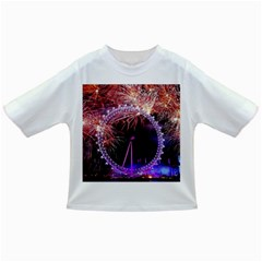 Happy New Year Clock Time Fireworks Pictures Infant/toddler T Shirts