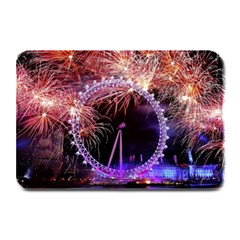 Happy New Year Clock Time Fireworks Pictures Plate Mats