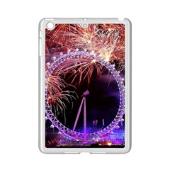 Happy New Year Clock Time Fireworks Pictures Ipad Mini 2 Enamel Coated Cases by Sapixe