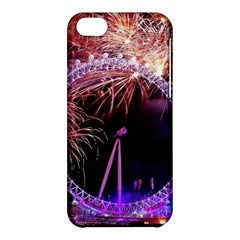 Happy New Year Clock Time Fireworks Pictures Apple Iphone 5c Hardshell Case