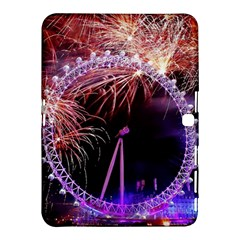 Happy New Year Clock Time Fireworks Pictures Samsung Galaxy Tab 4 (10 1 ) Hardshell Case  by Sapixe