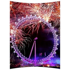 Happy New Year Clock Time Fireworks Pictures Back Support Cushion by Sapixe