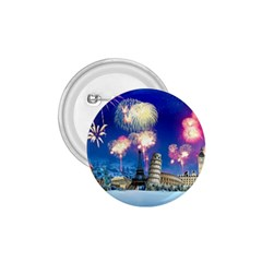 Happy New Year Celebration Of The New Year Landmarks Of The Most Famous Cities Around The World Fire 1 75  Buttons by Sapixe