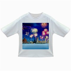 Happy New Year Celebration Of The New Year Landmarks Of The Most Famous Cities Around The World Fire Infant/toddler T Shirts