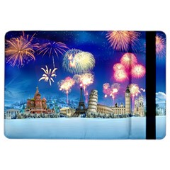 Happy New Year Celebration Of The New Year Landmarks Of The Most Famous Cities Around The World Fire Ipad Air 2 Flip