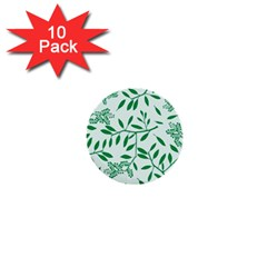Leaves Foliage Green Wallpaper 1  Mini Buttons (10 Pack)