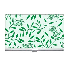 Leaves Foliage Green Wallpaper Business Card Holders by Sapixe