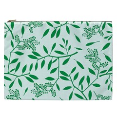 Leaves Foliage Green Wallpaper Cosmetic Bag (xxl)  by Sapixe