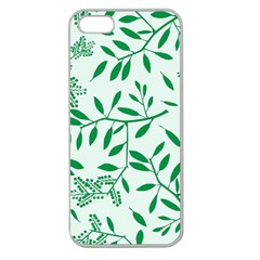 Leaves Foliage Green Wallpaper Apple Seamless Iphone 5 Case (clear) by Sapixe