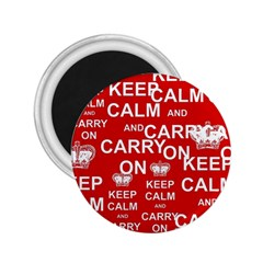 Keep Calm And Carry On 2 25  Magnets by Sapixe