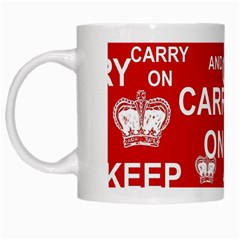 Keep Calm And Carry On White Mugs
