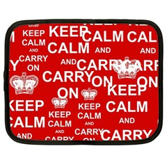 Keep Calm And Carry On Netbook Case (large) by Sapixe