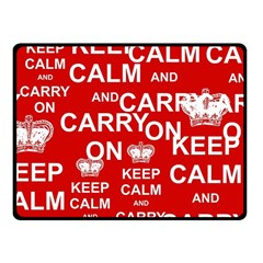 Keep Calm And Carry On Fleece Blanket (small) by Sapixe