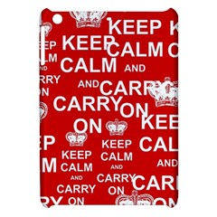 Keep Calm And Carry On Apple Ipad Mini Hardshell Case by Sapixe
