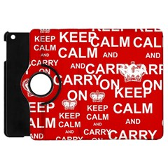 Keep Calm And Carry On Apple Ipad Mini Flip 360 Case by Sapixe