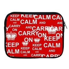 Keep Calm And Carry On Apple Ipad 2/3/4 Zipper Cases by Sapixe