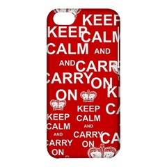 Keep Calm And Carry On Apple Iphone 5c Hardshell Case by Sapixe