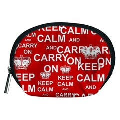 Keep Calm And Carry On Accessory Pouches (medium)