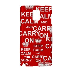 Keep Calm And Carry On Samsung Galaxy Note 4 Hardshell Case