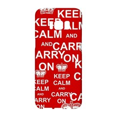 Keep Calm And Carry On Samsung Galaxy S8 Hardshell Case  by Sapixe