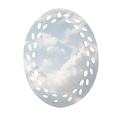 Light Nature Sky Sunny Clouds Ornament (oval Filigree)