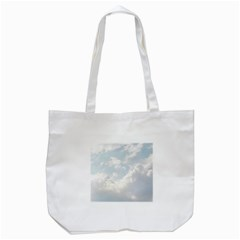 Light Nature Sky Sunny Clouds Tote Bag (white) by Sapixe