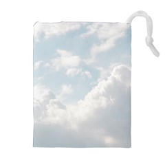 Light Nature Sky Sunny Clouds Drawstring Pouches (extra Large) by Sapixe