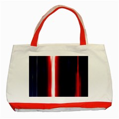 Lights Pattern Classic Tote Bag (red)