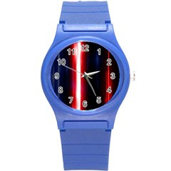 Lights Pattern Round Plastic Sport Watch (s)