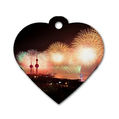 Kuwait Liberation Day National Day Fireworks Dog Tag Heart (one Side)