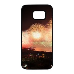 Kuwait Liberation Day National Day Fireworks Samsung Galaxy S7 Edge Black Seamless Case
