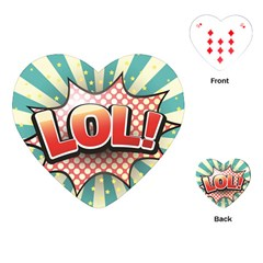Lol Comic Speech Bubble  Vector Illustration Playing Cards (heart)  by Sapixe