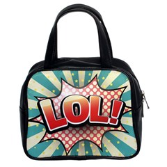Lol Comic Speech Bubble  Vector Illustration Classic Handbags (2 Sides) by Sapixe