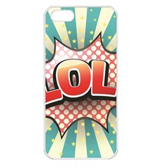 Lol Comic Speech Bubble  Vector Illustration Apple Iphone 5 Seamless Case (white) by Sapixe
