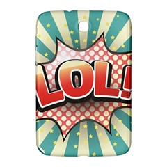 Lol Comic Speech Bubble  Vector Illustration Samsung Galaxy Note 8 0 N5100 Hardshell Case  by Sapixe
