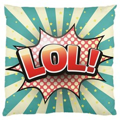Lol Comic Speech Bubble  Vector Illustration Large Flano Cushion Case (two Sides) by Sapixe